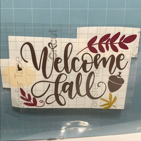 Hand Crafted Wall Art Welcome Fall Vinyl Decal Poshmark